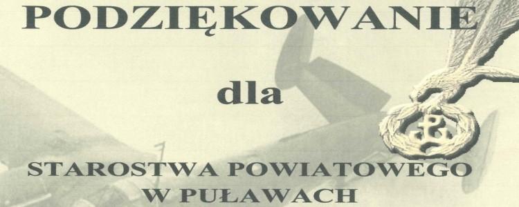 Podziękowania dla Starostwa Powiatowego w Puławach od Szkoły Podstawowej w Opatkowicach