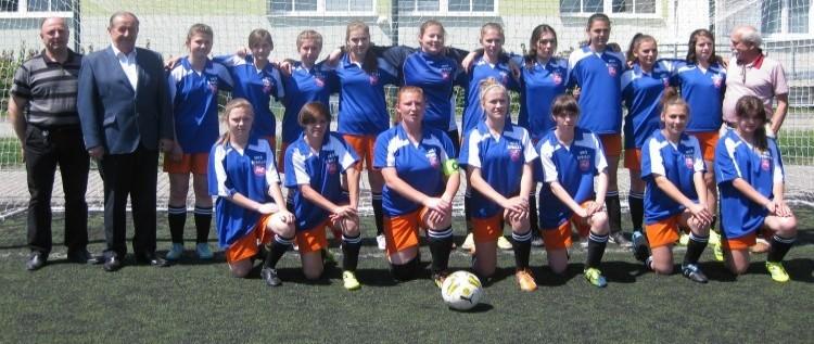 Mecz kobiecej drużyny piłki nożnej MKS Sybilla z UKS Widok
