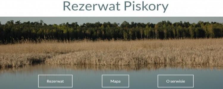 Serwis internetowy na temat Rezerwatu Piskory