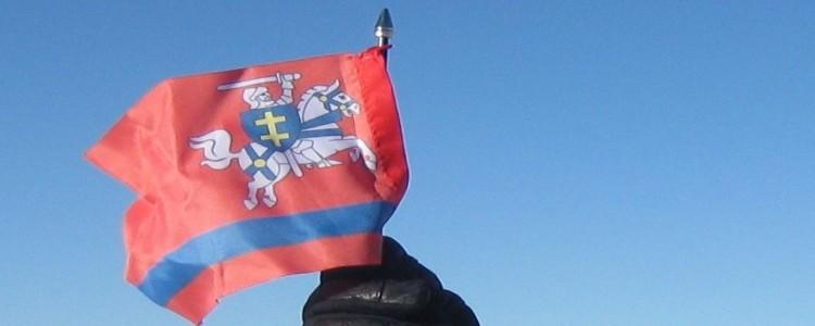Flaga Powiatu Puławskiego na dachu Europy