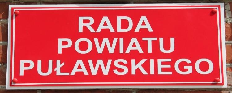 XXII Sesja Rady Powiatu Puławskiego, 31.08.2016 r. godz. 14.00 - przypomnienie