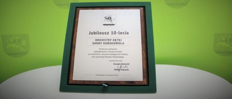 Jubileusz 10-lecia Orkiestry Dętej Gminy Końskowola