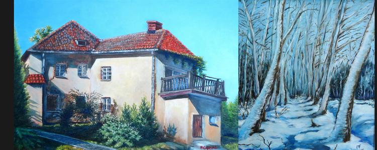 """Wernisaż wystawy malarstwa i rysunku Magdaleny Gębal """"Początek ... i koniec"""""""