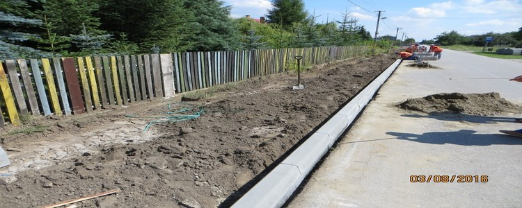 Zakończenie budowy chodnika w m. Gołąb gm. Puławy