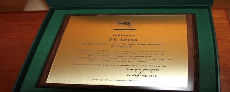 Jubileusz 75-lecia Zespół Szkół nr 1 im. Stefanii Sempołowskiej w Puławach