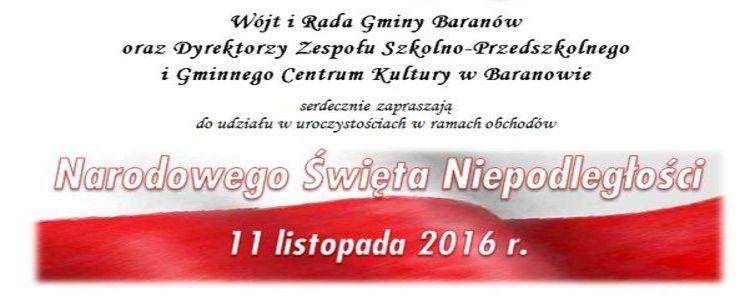 Obchody Narodowego Święta Niepodległości w Gminie Baranów