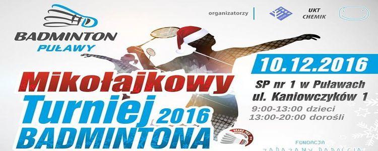 Mikołajkowy Turniej Badmintona 2016