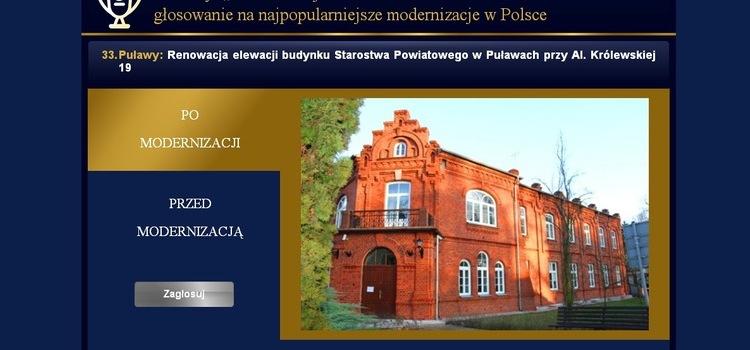 Głosujmy na jedyny obiekt w województwie lubelskim zgłoszony w konkursie Modernizacja Roku 2016