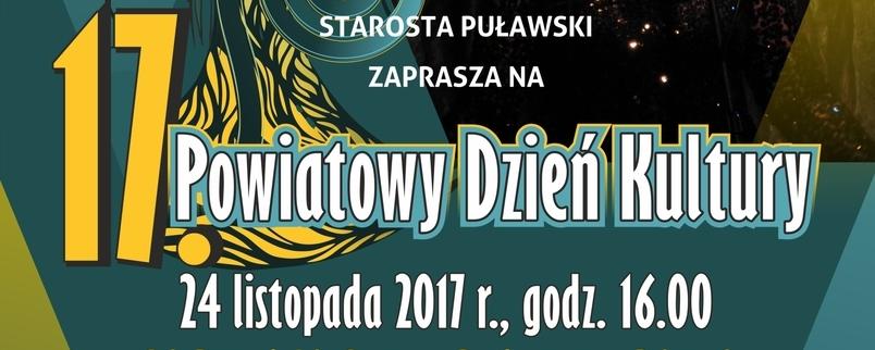 Powiatowy Dzień Kultury - 24 listopada 2017 r. godz. 16.00