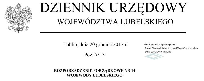 Rozporządzenie porządkowe Wojewody Lubelskiego