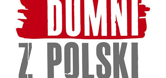 Hasło Dumni z Polski, czerwień, biel, szary