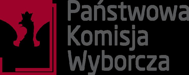 Biały orzeł na czerwonym tle, logo PKW