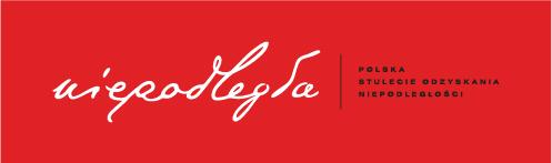 Logo niepodległa, czerwony negatyw