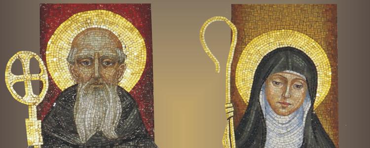 wizerunki świętych, złoto, brąz, bordo