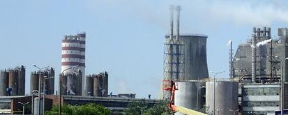 ZA Puławy, niebo, instalacje chemiczne