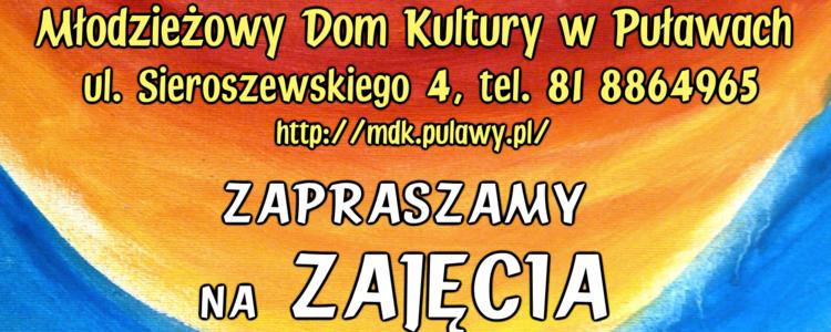 Rekrutacja na zajęcia w MDK w Puławach