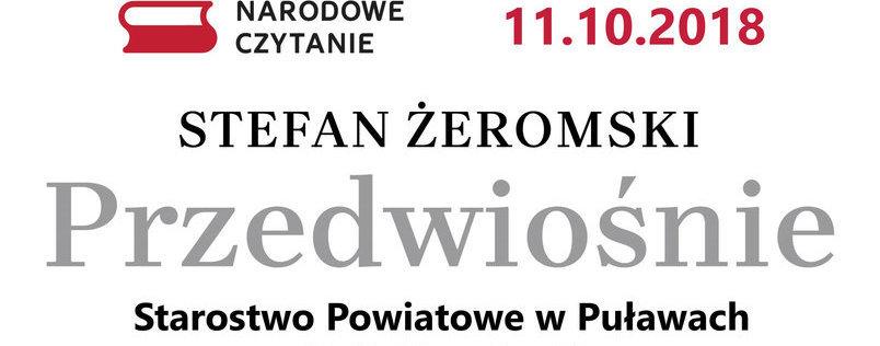 Narodowe Czytanie Przedwiośnia w Starostwie Powiatowym w Puławach