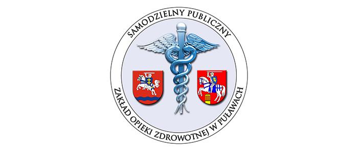 Herb powiatu puławskiego z logiem sp zoz