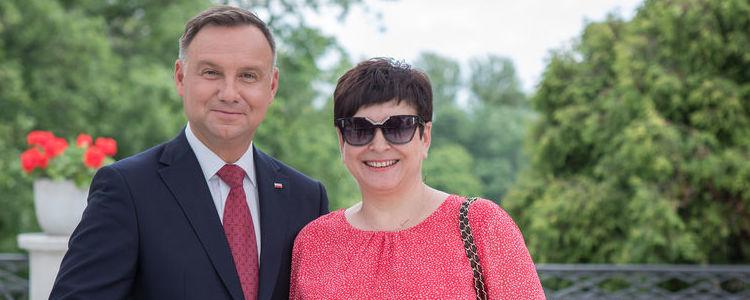 Danuta Smaga - Starosta Puławski z Prezydentem Rzeczypospolitej Polskiej Andrzejem Dudą