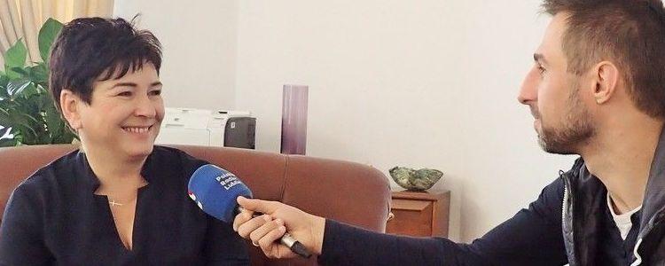 Starosta Danuta Smaga udziela wywiadu Radiu Lublin