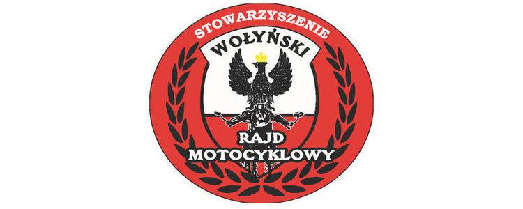Stowarzyszenie Wołyński Rajd Motocyklowy - logo - orzeł na czerwono-białym tle