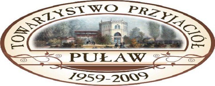 Towarzystwo Przyjaciół Puław. Logo z Willą Cienistą, odcienie brązu.