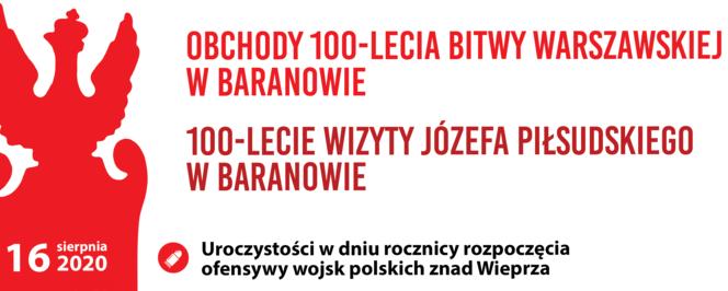 Obchody 100-lecia Bitwy Warszawskiej w Baranowie objęte patronatem honorowym Starosty Puławskiego