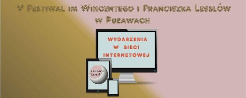 Fundacja im. Wincentego i Franciszka Lesslów, wydarzenia w odsłonie internetowej