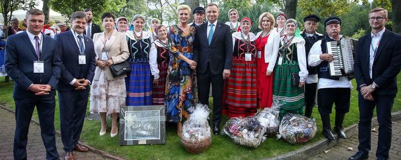 Grupa z województwa lubelskiego na Dożynkach Prezydenckich