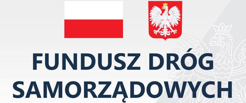 Logotyp Funduszu Dróg Samorządowych.