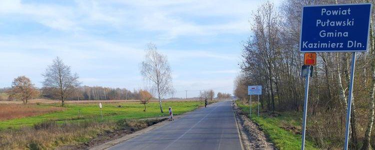 Fragment drogi powiatowej nr 2547L.