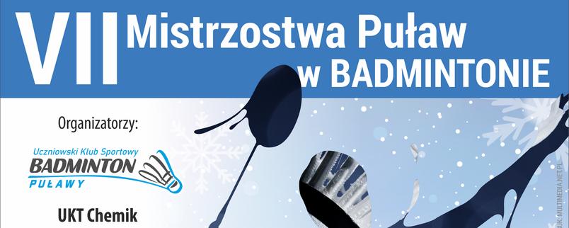 VII Mistrzostwa Puław w Badmintonie, grafika sportowa