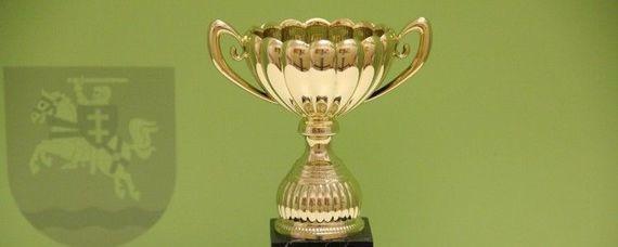 Puchar na zielonym tle