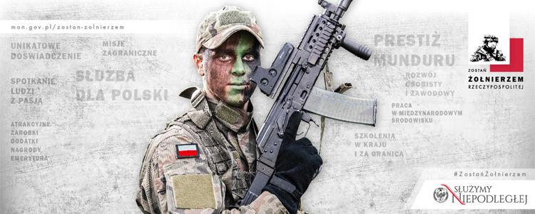 """Grafika programu """"Zostań żołnierzem Rzeczypospolitej""""."""