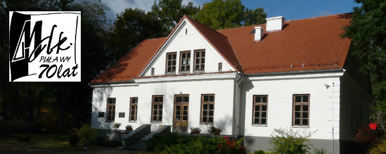 Budynek MDK Puławy, logo MDK
