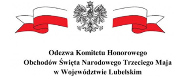 Odezwa Komitetu Honorowego Obchodów Święta Narodowego Trzeciego Maja, orzeł, flaga