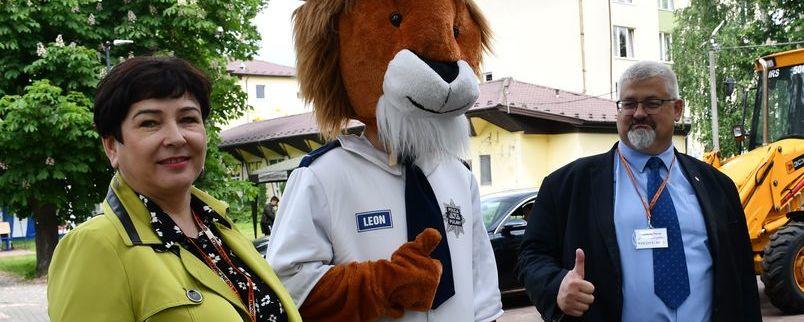 Z policyjną maskotką