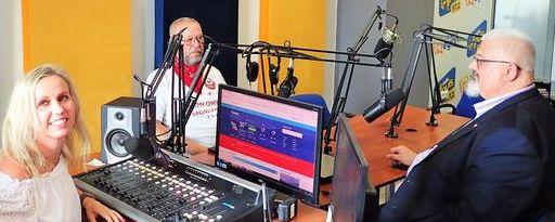 Wnętrze radiowego studia nagrań