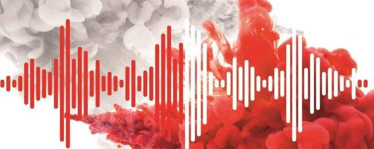 Grafika przedstawiająca dźwięk w barwach narodowych