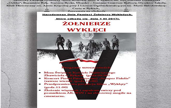 Zaproszenie na powiatowe obchody Narodowego Dnia Pamięci Żołnierzy Wyklętych