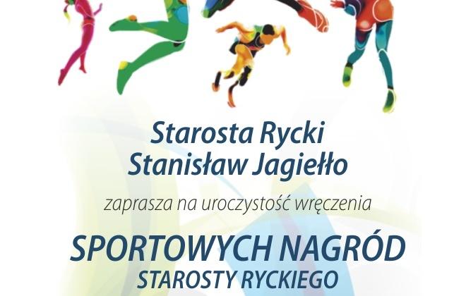 Zaproszenie na uroczyste wręczenie Sportowych Nagród Starosty Ryckiego