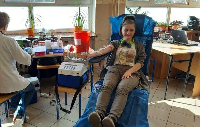 Uczniowie ZSZ nr 2 oddają krew