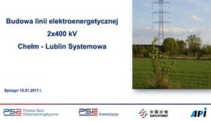 Budowa linii elektroenergetycznej 2x400kv Chełm- Lublin Systemowa