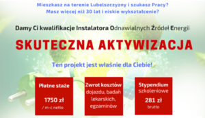 Projekt pn.: Instalator Urządzeń Energii Odnawialnej.