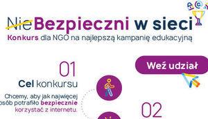 Wykadrowana część plakatu NieBezpieczni w sieci – konkurs dla NGO na najlepszą kampanię edukacyjną
