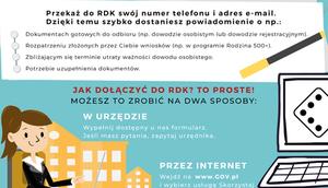 Skorzystaj z Rejestru Danych Kontaktowych (RDK)