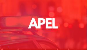 Napis APEL na czerwnym tle