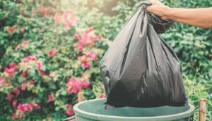 Osoba wyrzucająca śmieci