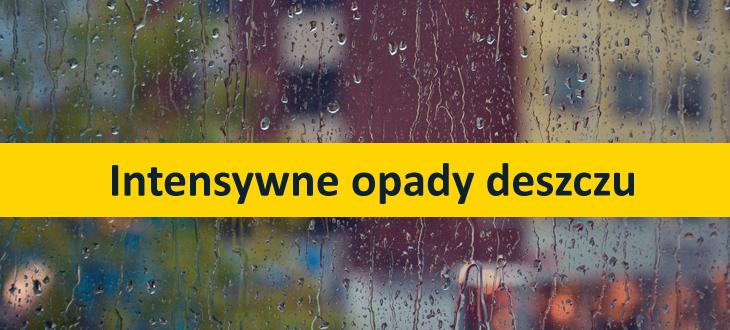 Ostrzeżenie o intensywnych opadach deszczu