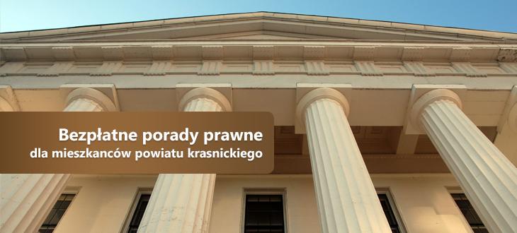 Bezpłatne porady prawne dla mieszkanców powiatu krasnickiego